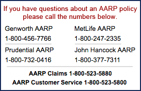 AARP Long Term Care Insurance Contacts